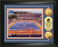 Boise State University  Broncos Stadium 24KT Gold Coin Photomint