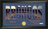 Boise State University Silhouette Bronze Coin Panoramic Photo Mint
