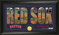 Boston Red Sox Silhouette Bronze Coin Panoramic Photo Mint