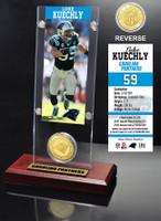 Luke Kuechly Ticket & Bronze Coin Acrylic Desk Top