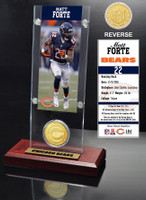 Matt Forte Ticket & Bronze Coin Acrylic Desk Top