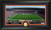 Chicago Bears Stadium Bronze Coin Panoramic Photo Mint
