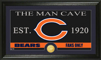 Chicago Bears The Man Cave Bronze Coin Panoramic Photo Mint