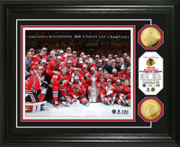 *Chicago Blackhawks 2015 Stanley Cup Champions Celebration Gold Coin Photo Mint