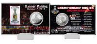 *Chicago Blackhawks 2015 Stanley Cup Champions Banner Raising Silver Coin Card