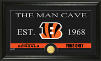 Cincinnati Bengals Man Cave Bronze Coin Panoramic Photo Mint