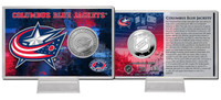 Columbus Blue Jackets Silver Coin Card
