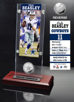 Cole Beasley Ticket & Minted Coin Acrylic Desk Top
