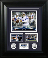Tony Romo Marquee Silver Coin Photo Mint