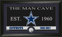 Dallas Cowboys The Man Cave Minted Coin Panoramic Photo Mint