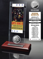 Super Bowl 6 Ticket & Game Coin Collection