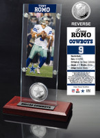 Tony Romo Ticket & Minted Coin Acrylic Desk Top