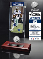 Terrance Williams Ticket & Minted Coin Acrylic Desk Top