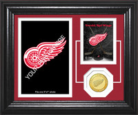 Detroit Red Wings Fan Memories Bronze Coin Desktop Photo Mint