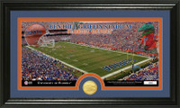 University of Florida Stadium Bronze Coin Panoramic Photo Mint