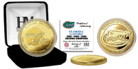 University of Florida 3-Time National Champs Gold Coin