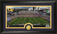 Georgia Tech Stadium Bronze Coin Panoramic Photo Mint