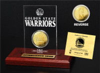Golden State Warriors 24KT Gold Coin Etched Acrylic