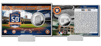 Houston Astros 50th Anniversary Silver Coin Card