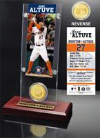 Jose Altuve Ticket & Bronze Coin Acrylic Desk Top