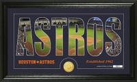 Houston Astros Silhouette Bronze Coin Panoramic Photo Mint