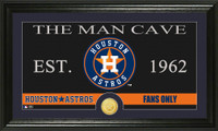 Houston Astros The Man Cave Bronze Coin Panoramic Photo Mint