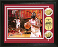 James Harden Gold Coin Photo Mint