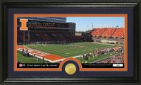 University Of Illinois Stadium Bronze Coin Panoramic Photo Mint