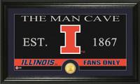 University of Illinois Man Cave Bronze Coin Panoramic Photo Mint