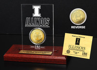 University of Illinois 24KT Gold Coin Etched Acrylic