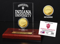 Indiana University   Gold Coin Etched Acrylic