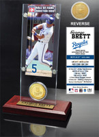 George Brett Hall of Fame Ticket & Bronze Coin Acrylic Desk Top