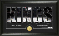 Los Angeles Kings Silhouette Bronze Coin Panoramic Photo Mint