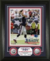 Tom Brady 400th Career Touchdown Pass Silver Coin Photo Mint