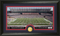 New England Patriots Stadium Bronze Coin Panoramic Photo Mint