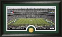 New York Jets Stadium Bronze Coin Panoramic Photo Mint