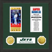 New York Jets  SB Championship Ticket Collection