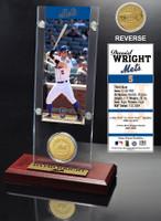 David Wright Ticket & Bronze Coin Acrylic Desk Top