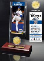 Matt Harvey Ticket & Bronze Coin Acrylic Desk Top
