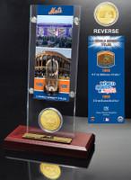 New York Mets World Series Ticket & Bronze Coin Acrylic Desk Top