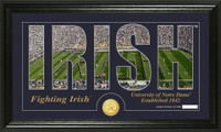 University of Notre Dame Silhouette Bronze Coin Panoramic Photo Mint