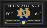 University of Notre Dame Man Cave Bronze Coin Panoramic Photo Mint