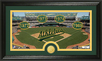 Oakland Athletics Tradition  Bronze Coin Panoramic Photo Mint