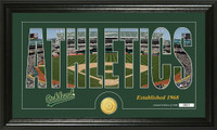 Oakland A's Silhouette Bronze Coin Panoramic Photo Mint