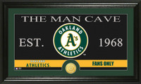 Oakland A's The Man Cave Bronze Coin Panoramic Photo Mint