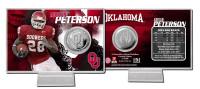 Adrian Peterson Oklahoma Silver Coin Card