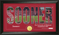 University of Oklahoma Silhouette Bronze Coin Panoramic Photo Mint