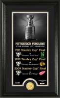 Pittsburgh Penguins Legacy Supreme Bronze Coin Panoramic Photo Mint