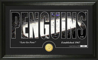 Pittsburgh Penguins Silhouette Bronze Coin Panoramic Photo Mint