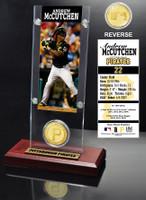Andrew McCutchen Ticket & Bronze Coin Acrylic Desk Top